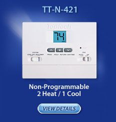 Non-Programmable 2 heat/1 cool