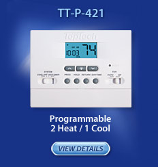 Programmable 2 heat/1 cool - TT-P-421